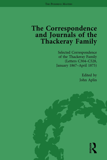 The Correspondence and Journals of the Thackeray Family Vol 3 book cover