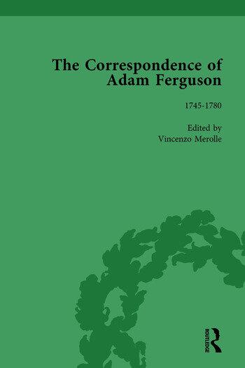 The Correspondence of Adam Ferguson Vol 1 book cover