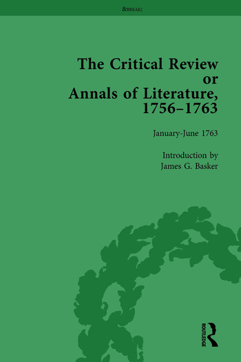 The Critical Review or Annals of Literature, 1756-1763 Vol 15 book cover