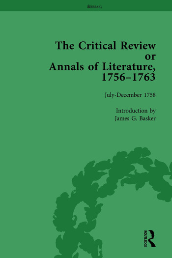 The Critical Review or Annals of Literature, 1756-1763 Vol 6 book cover