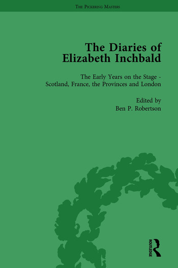 The Diaries of Elizabeth Inchbald Vol 1 book cover