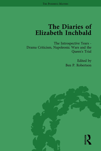 The Diaries of Elizabeth Inchbald Vol 3 book cover