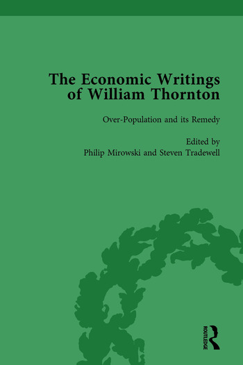 The Economic Writings of William Thornton Vol 2 book cover