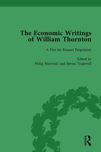The Economic Writings of William Thornton Vol 3 book cover