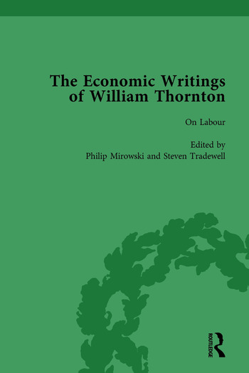 The Economic Writings of William Thornton Vol 4 book cover