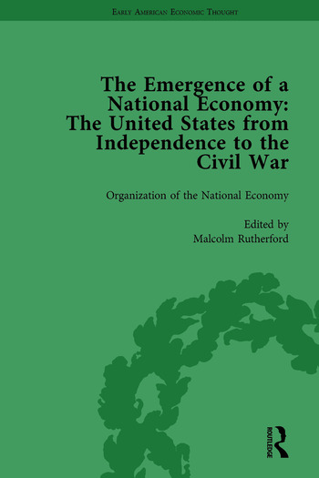 The Emergence of a National Economy Vol 1 The United States from Independence to the Civil War book cover