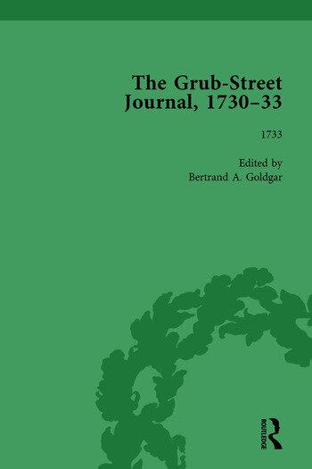 The Grub Street Journal, 1730-33 Vol 4 book cover