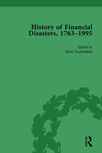 The History of Financial Disasters, 1763-1995 Vol 3 book cover