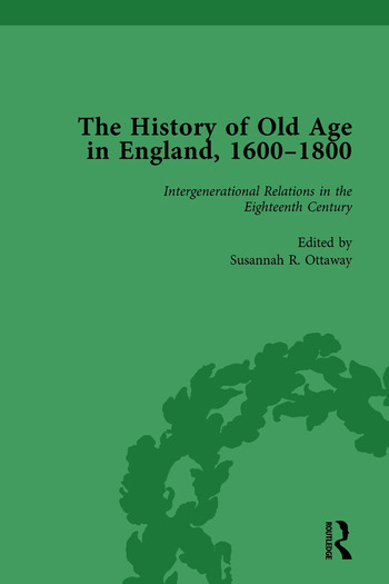 The History of Old Age in England, 1600-1800, Part I Vol 4 book cover