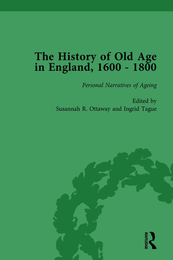 The History of Old Age in England, 1600-1800, Part II vol 8 book cover
