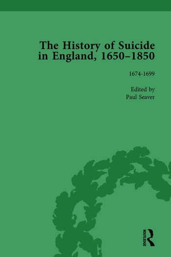 The History of Suicide in England, 1650–1850, Part I Vol 2 book cover
