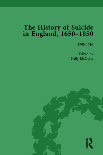 The History of Suicide in England, 1650–1850, Part I Vol 3 book cover
