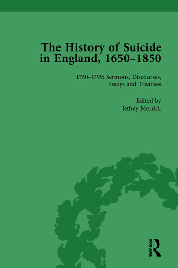 The History of Suicide in England, 1650–1850, Part II vol 5 book cover