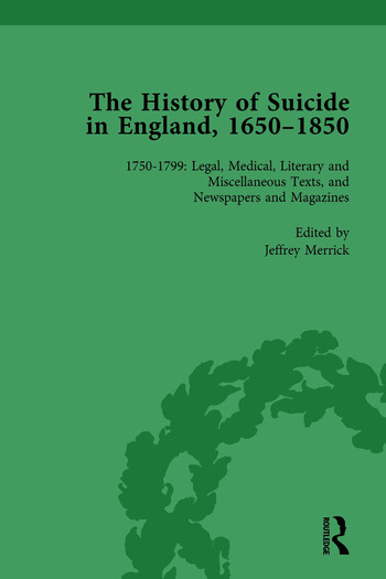 The History of Suicide in England, 1650–1850, Part II vol 6 book cover