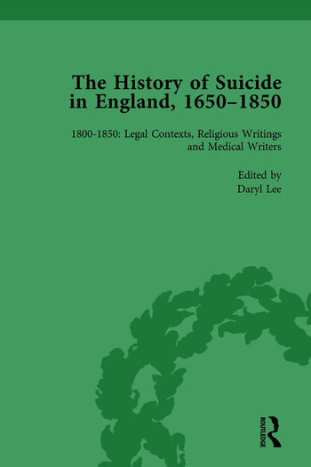 The History of Suicide in England, 1650–1850, Part II vol 7 book cover