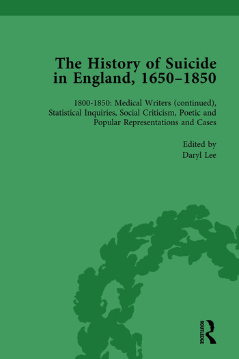 The History of Suicide in England, 1650–1850, Part II vol 8 book cover