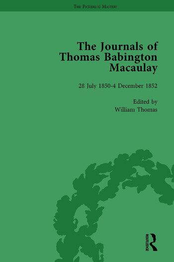 The Journals of Thomas Babington Macaulay Vol 3 book cover
