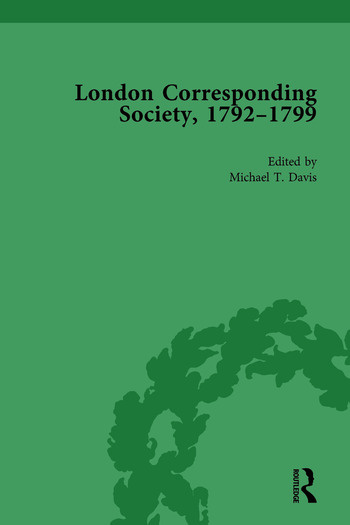 The London Corresponding Society, 1792-1799 Vol 3 book cover