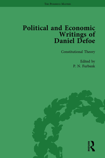 The Political and Economic Writings of Daniel Defoe Vol 1 book cover