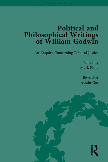 The Political and Philosophical Writings of William Godwin vol 3 book cover