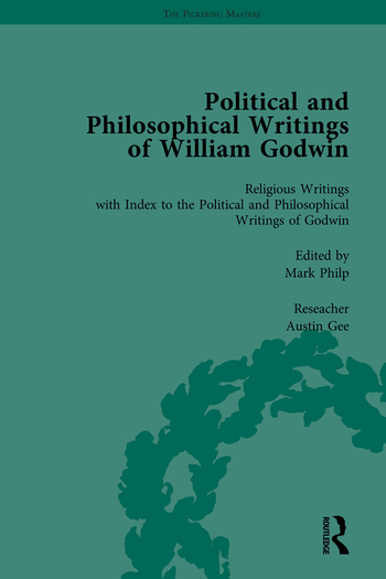 The Political and Philosophical Writings of William Godwin vol 7 book cover