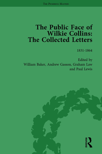 The Public Face of Wilkie Collins Vol 1 The Collected Letters book cover