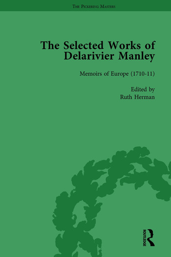 The Selected Works of Delarivier Manley Vol 3 book cover