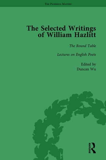 The Selected Writings of William Hazlitt Vol 2 book cover