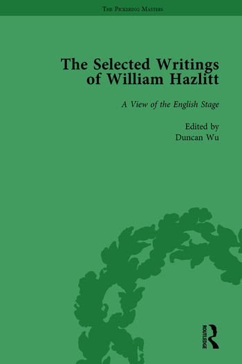 The Selected Writings of William Hazlitt Vol 3 book cover