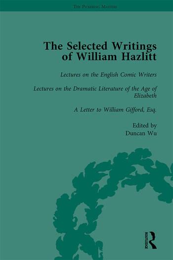 The Selected Writings of William Hazlitt Vol 5 book cover