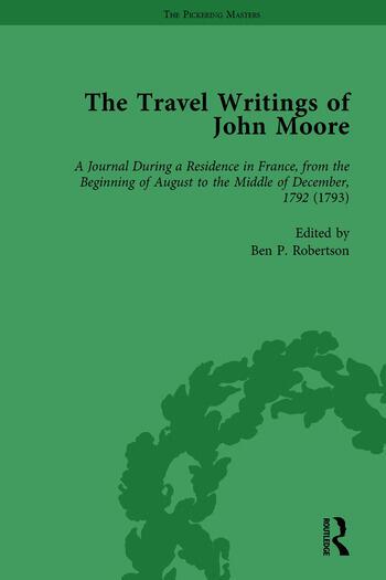The Travel Writings of John Moore Vol 3 book cover