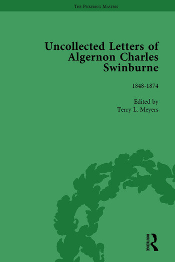 The Uncollected Letters of Algernon Charles Swinburne Vol 1 book cover