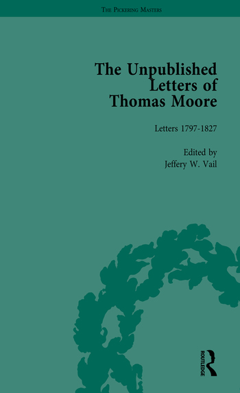 The Unpublished Letters of Thomas Moore Vol 1 book cover