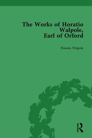 The Works of Horatio Walpole, Earl of Orford Vol 3 book cover