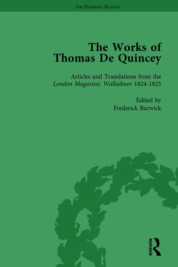 The Works of Thomas De Quincey, Part I Vol 4 book cover