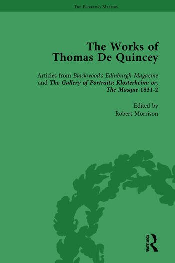 The Works of Thomas De Quincey, Part II vol 8 book cover