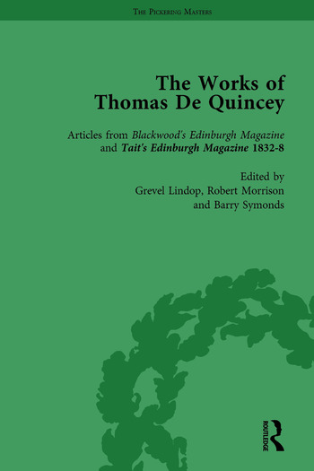 The Works of Thomas De Quincey, Part II vol 9 book cover