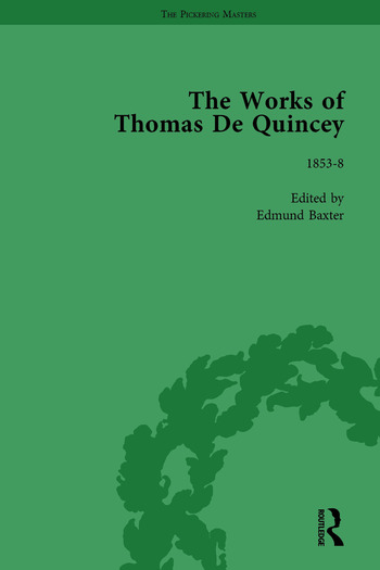 The Works of Thomas De Quincey, Part III vol 18 book cover