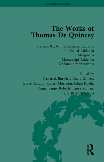 The Works of Thomas De Quincey, Part III vol 20 book cover