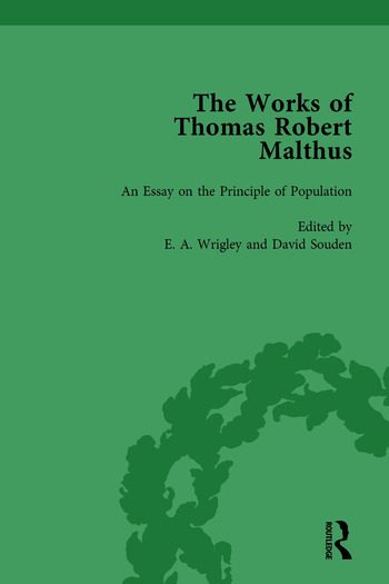 The Works of Thomas Robert Malthus Vol 1 book cover