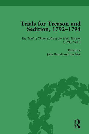 Trials for Treason and Sedition, 1792-1794, Part I Vol 2 book cover