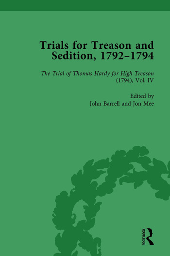 Trials for Treason and Sedition, 1792-1794, Part I Vol 5 book cover