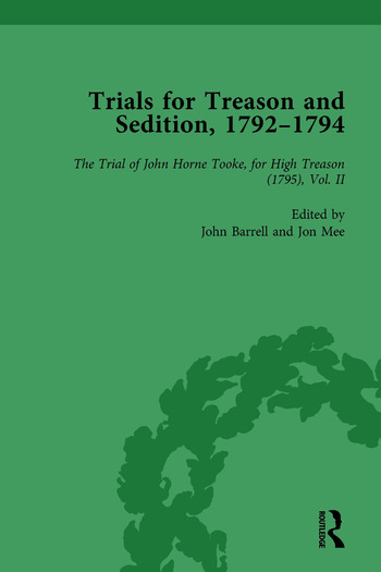 Trials for Treason and Sedition, 1792-1794, Part II vol 7 book cover