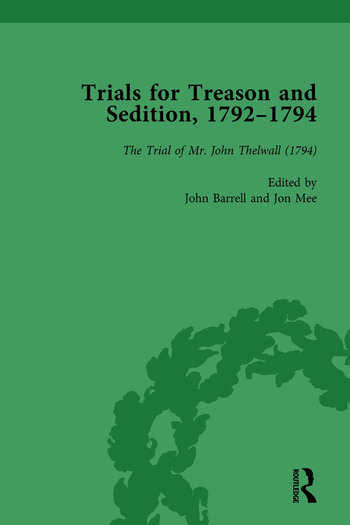 Trials for Treason and Sedition, 1792-1794, Part II vol 8 book cover