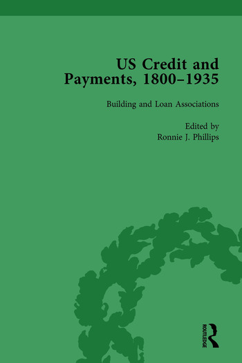US Credit and Payments, 1800–1935, Part I Vol 1 book cover
