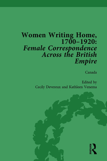 Women Writing Home, 1700-1920 Vol 3 Female Correspondence Across the British Empire book cover