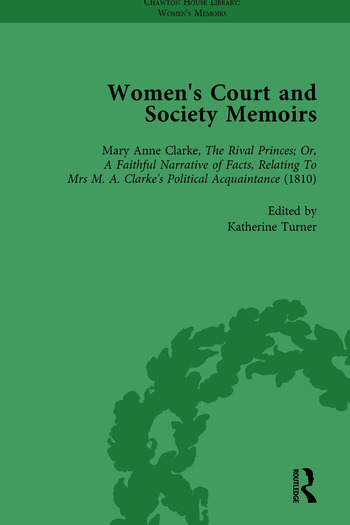 Women's Court and Society Memoirs, Part II vol 6 book cover