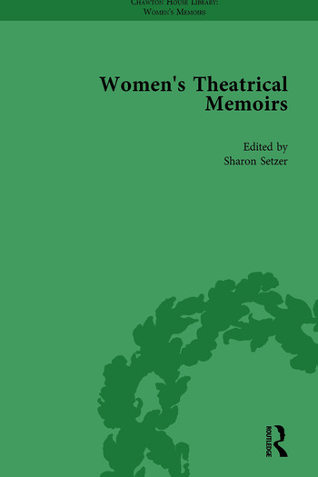 Women's Theatrical Memoirs, Part I Vol 4 book cover