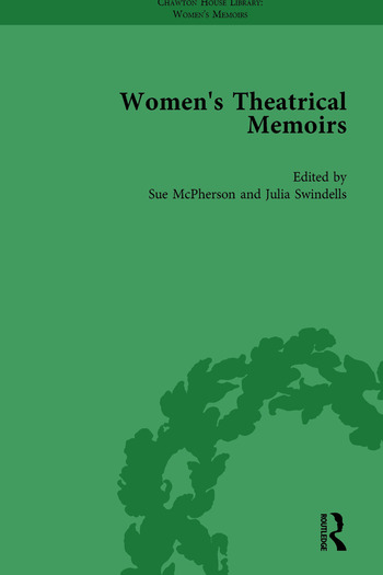 Women's Theatrical Memoirs, Part II vol 6 book cover