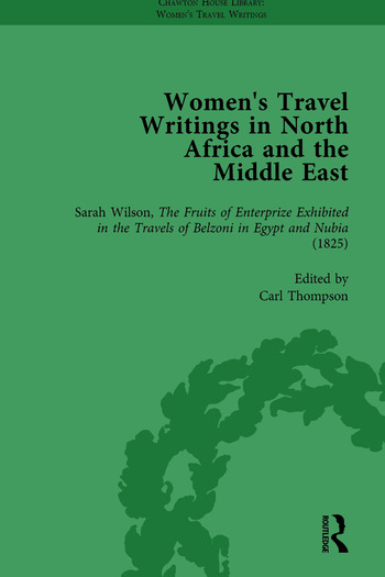 Women's Travel Writings in North Africa and the Middle East, Part I Vol 1 book cover